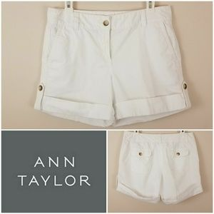 Ann Taylor | White Shorts 'Signature Fit' [Shorts]